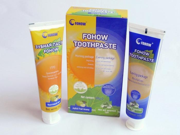 Зубная паста утро-вечер с кордицепсом Fohow